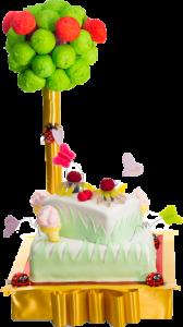 עוגה מבצק סוכר
