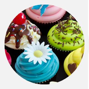 מגוון קישוטים<br />מבצק סוכר